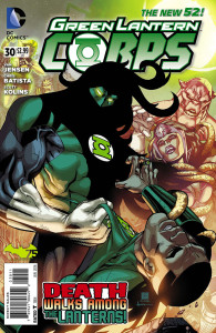Issue #30 of Green Lantern Corps starts to head up as the Durlan infiltrators are found.