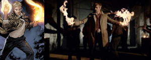 No contest: Matt Ryan is John Constantine where Keanu Reeves was...ummm...Keanu. Damn I love this show!
