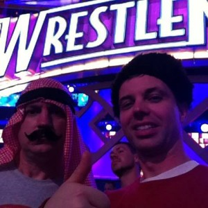 Kevin and Chad at a recent Wrestlemania. They like to get into character.