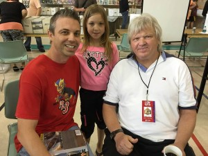 "Kevin and his daughter with ""Beautiful"" Bobby Eaton"