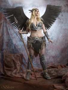 The finished Valkyrie, a part of the 2015 C2E2 Crown Championship of Cosplay. Good luck, Desiree!