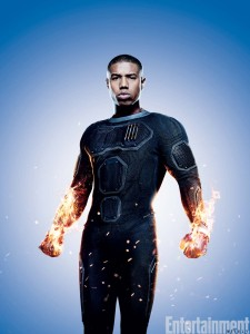 Michael B Jordan as Johnny Storm (Photo Courtesy EW.com)