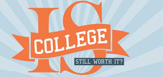 college is it worth it It's easy to stop believing that a college education is worth it when the nation has over a trillion dollars in debt, but college graduates still earn more over a lifetime than those without a degree plus, they're more employable according to this cnbc article: research from the.