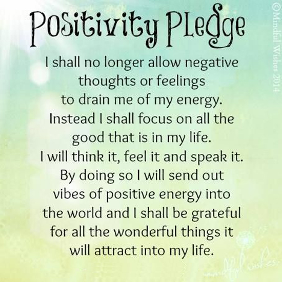 Positive Cynicism 40: Pledge of Positivity